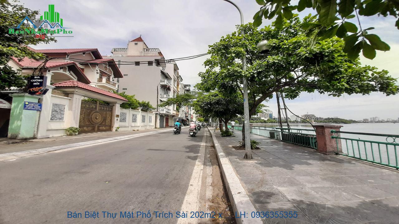 Bán Biệt Thự Mặt Phố Trích Sài 202m2 x 5 Tầng, Mặt Tiền 12m, Thang Máy