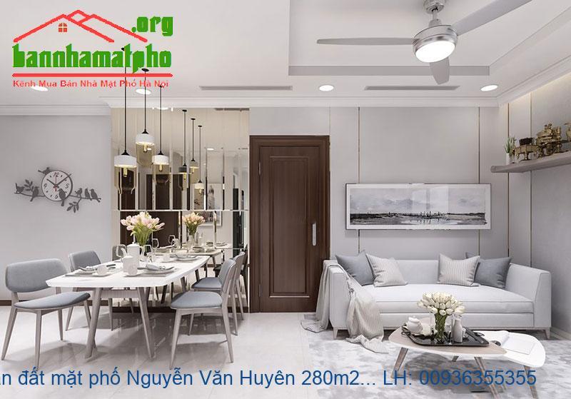 Bán đất mặt phố Nguyễn Văn Huyên 280m2 MT:13m giá 90tỷ