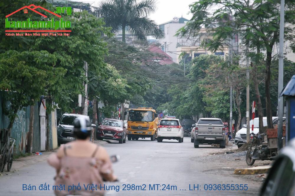 Bán đất mặt phố Việt Hưng 298m2 MT:24m lô góc giá 29,2tỷ