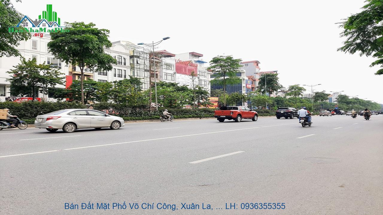 Bán Đất Mặt Phố Võ Chí Công, Xuân La, 209m2, Mặt Tiền 15m, Lô Góc, Giá