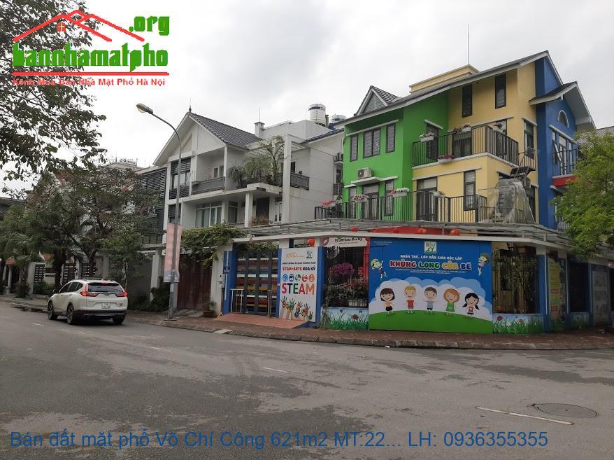 Bán đất mặt phố Võ Chí Công 621m2 MT:22m lô góc giá 150tỷ