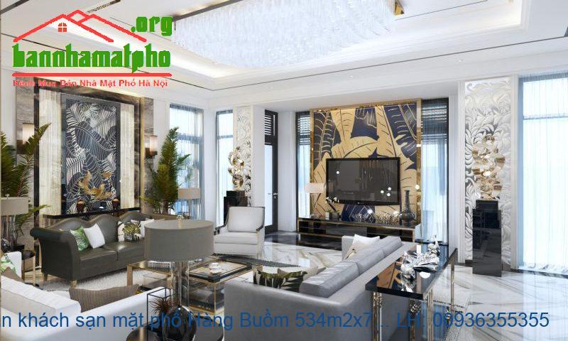 Bán khách sạn mặt phố Hàng Buồm 534m2x7T MT:11m giá 145tỷ