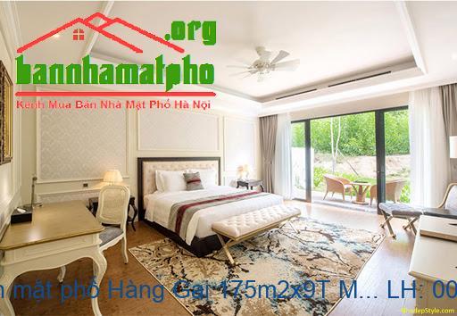 Bán khách sạn mặt phố Hàng Gai 175m2x9T MT:5,5m giá 200tỷ