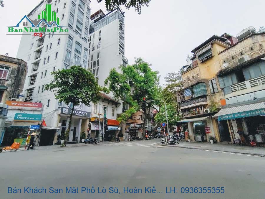 Bán Khách Sạn Mặt Phố Lò Sũ, Hoàn Kiếm, 222m2, 11 Tầng, 52 Phòng