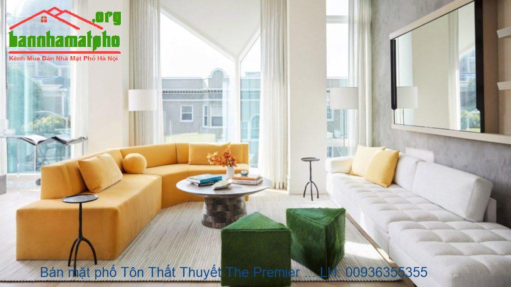 Bán mặt phố Tôn Thất Thuyết The Premier 120m2x6T MT:5,5m giá 31tỷ
