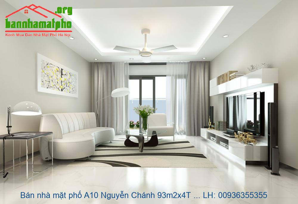 Bán nhà mặt phố A10 Nguyễn Chánh 93m2x4T MT:6m giá 31tỷ