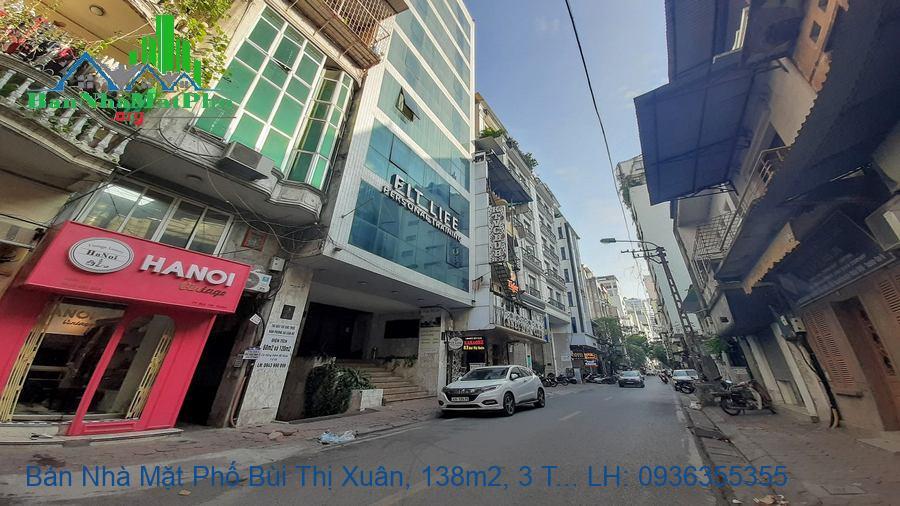 Bán Nhà Mặt Phố Bùi Thị Xuân, 138m2, 3 Tầng, Mặt Tiền 6m, Giá Rẻ