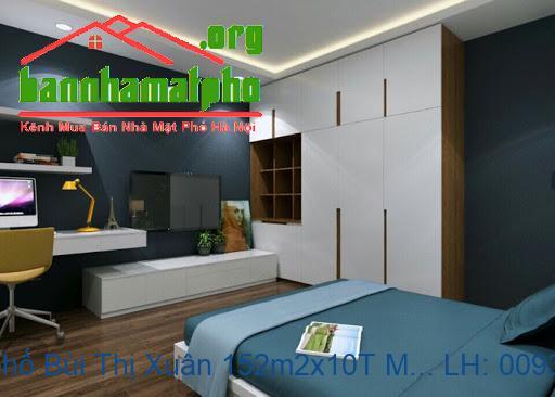 Bán nhà mặt phố Bùi Thị Xuân 152m2x10T MT:7m giá 67tỷ