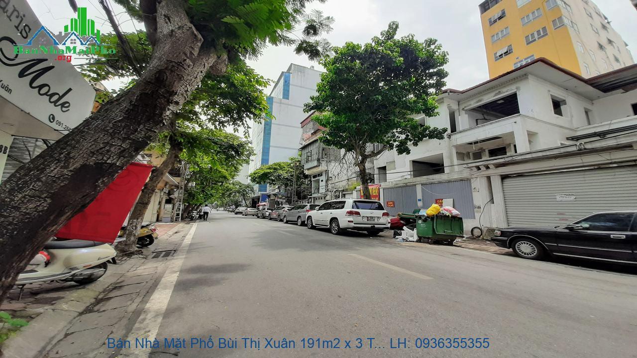 Bán Nhà Mặt Phố Bùi Thị Xuân 191m2 x 3 Tầng, Mặt Tiền 7,6m, Giá Rẻ