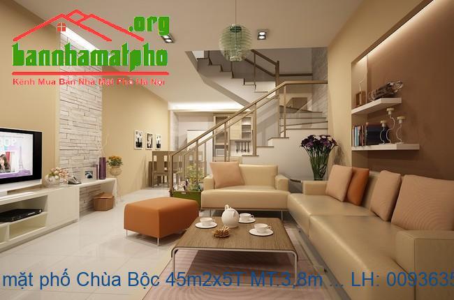 Bán nhà mặt phố Chùa Bộc 45m2x5T MT:3,8m giá 21tỷ