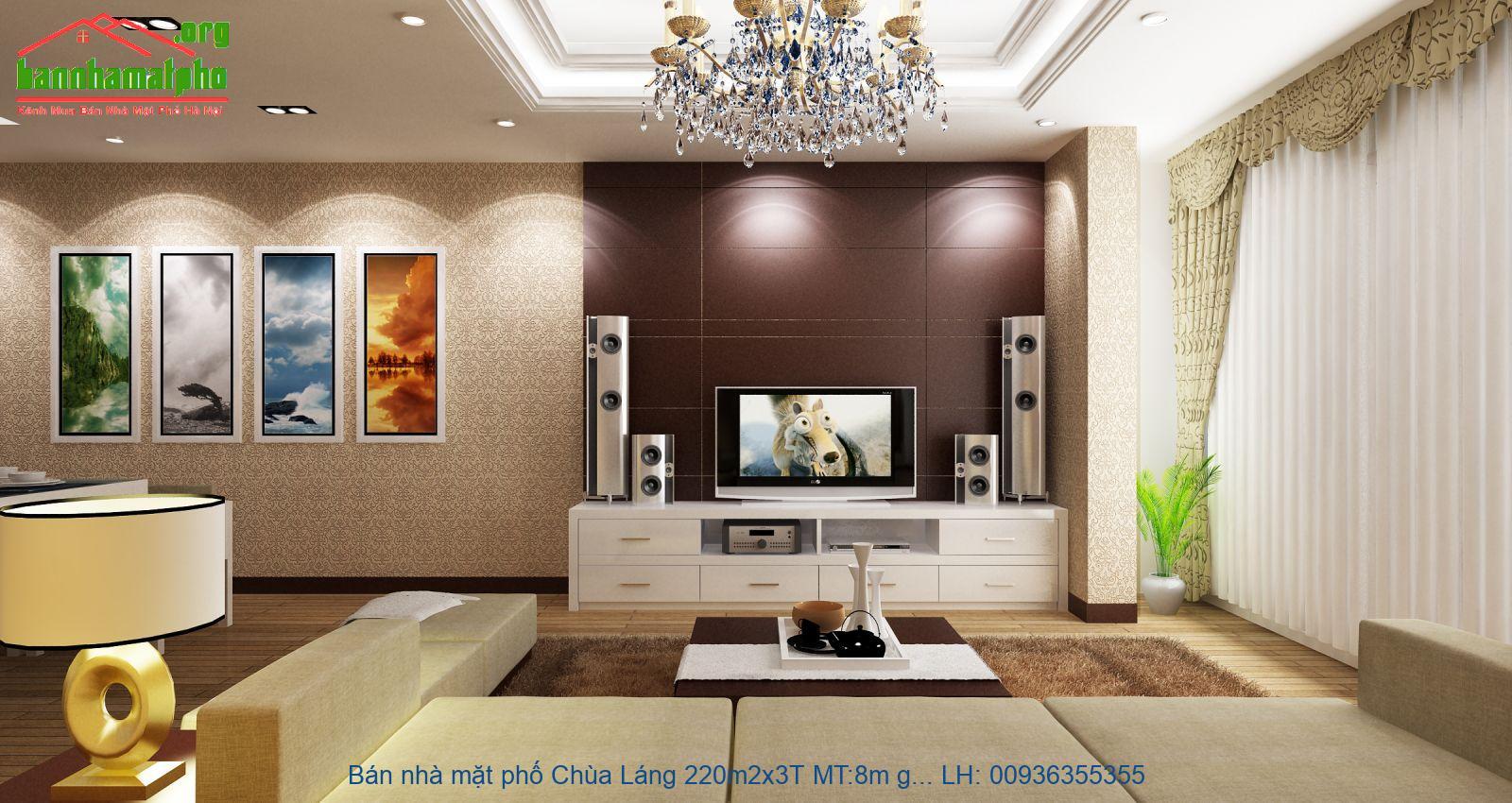 Bán nhà mặt phố Chùa Láng 220m2x3T MT:8m giá 40tỷ