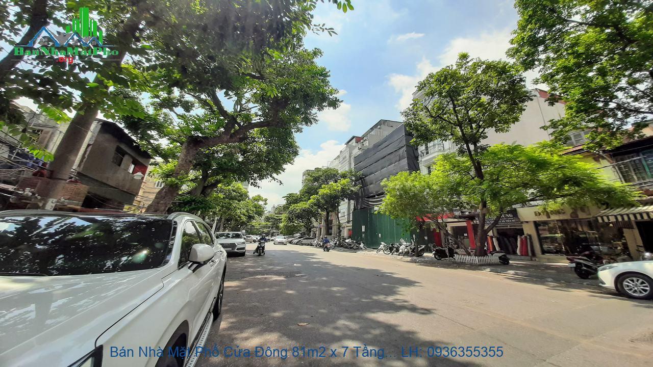 Bán Nhà Mặt Phố Cửa Đông 81m2 x 7 Tầng, Thang Máy, Mặt Tiền 4,3m