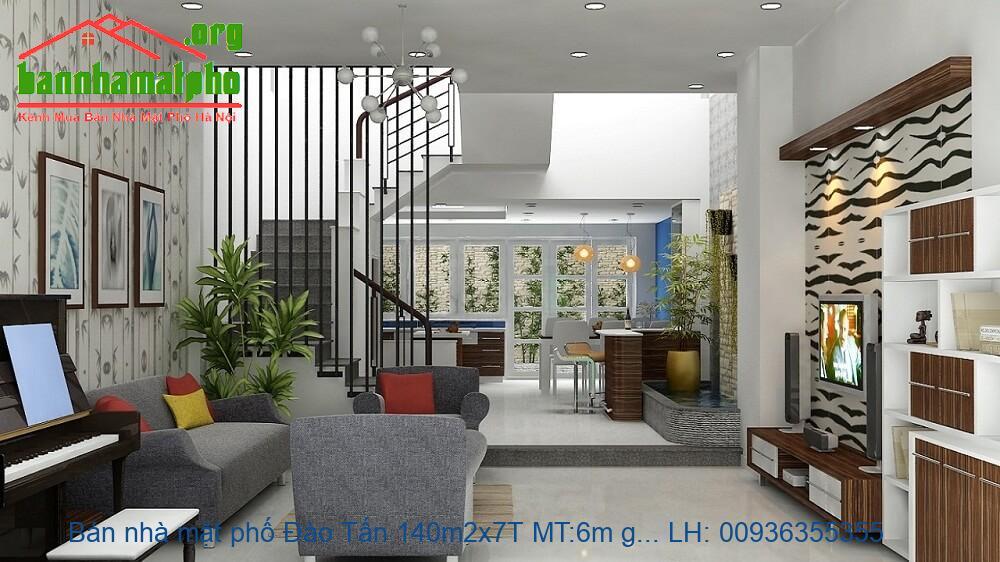 Bán nhà mặt phố Đào Tấn 140m2x7T MT:6m giá 76tỷ