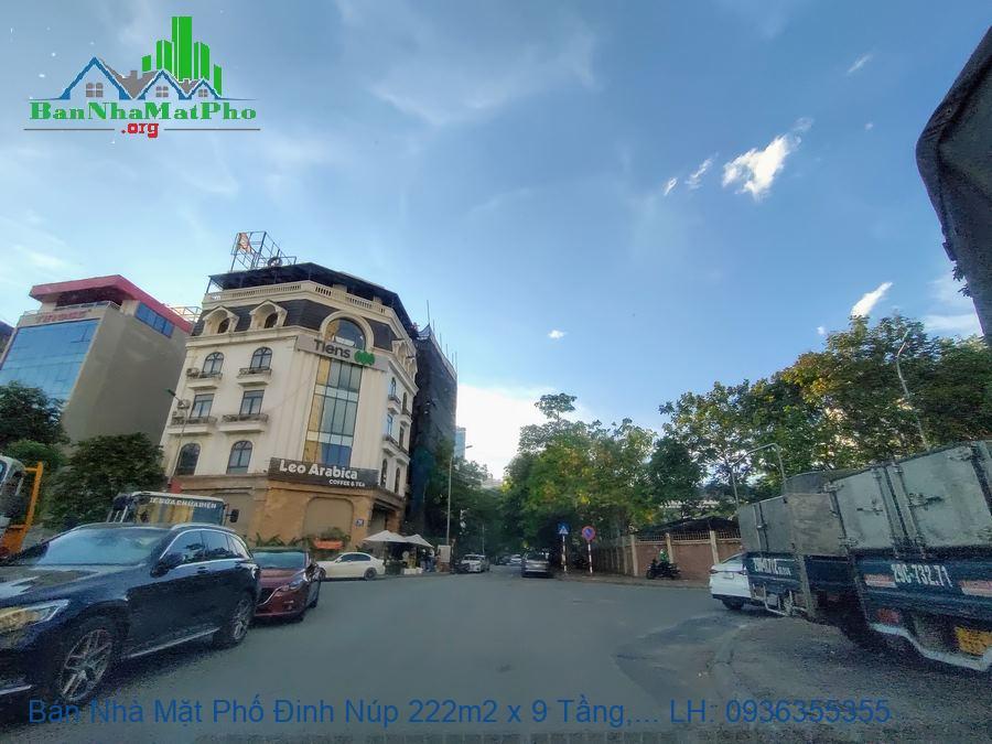 Bán Nhà Mặt Phố Đinh Núp 222m2 x 9 Tầng, Lô Góc, Thang Máy, Giá Rẻ