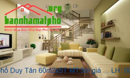 Bán nhà mặt phố Duy Tân 60m2x5T MT:5m giá 25tỷ