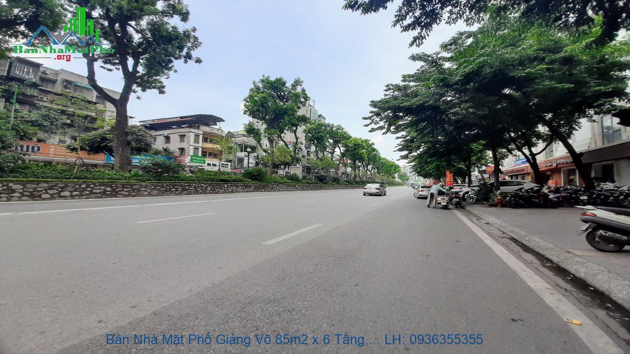Bán Nhà Mặt Phố Giảng Võ 85m2 x 6 Tầng, Thang Máy, Mặt Tiền 5m