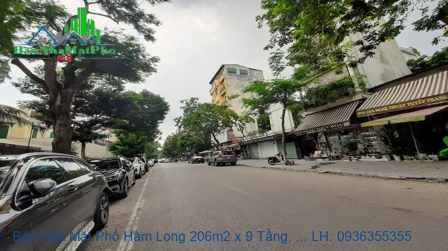 Bán Nhà Mặt Phố Hàm Long 206m2 x 9 Tầng, Mặt Tiền 7,8m, TM, Giá Rẻ