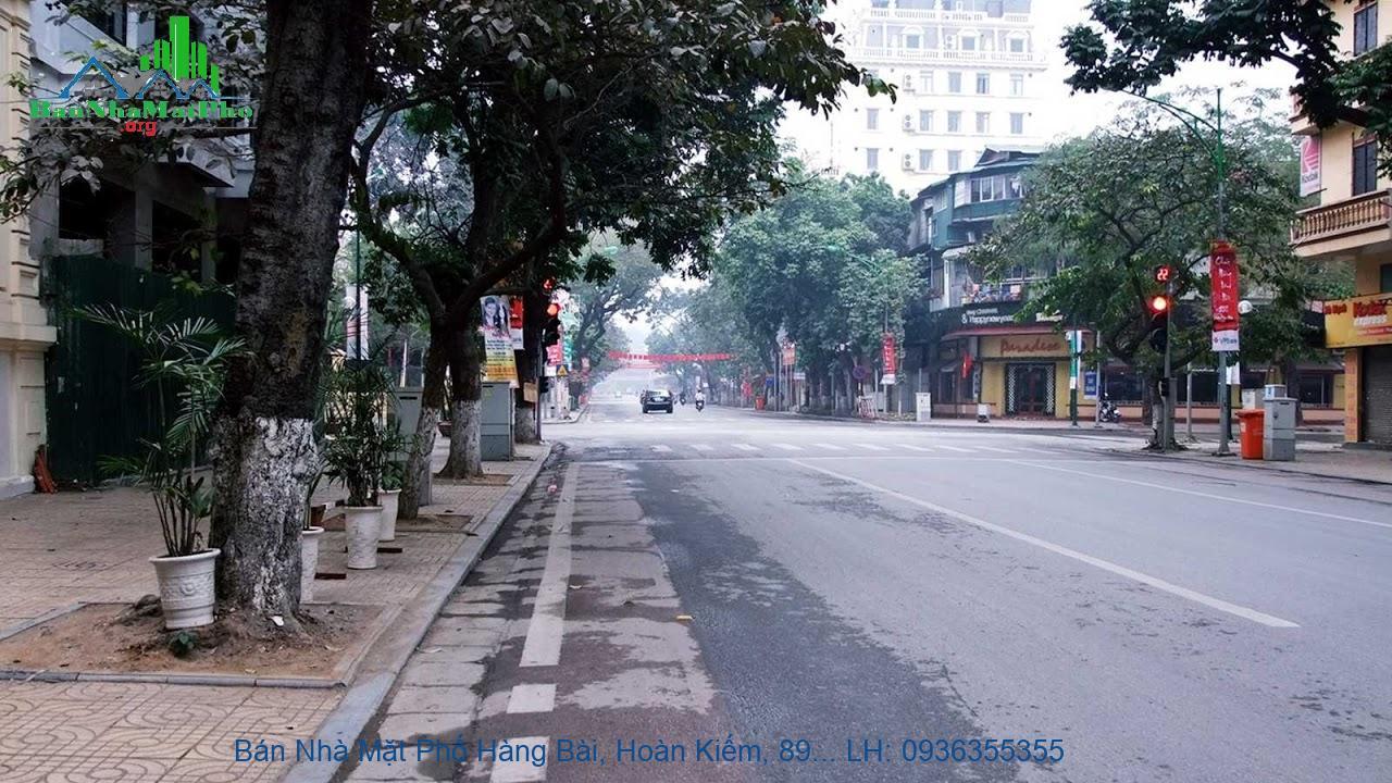 Bán Nhà Mặt Phố Hàng Bài, Hoàn Kiếm, 89m2, Tặng Nhà 2 Tầng