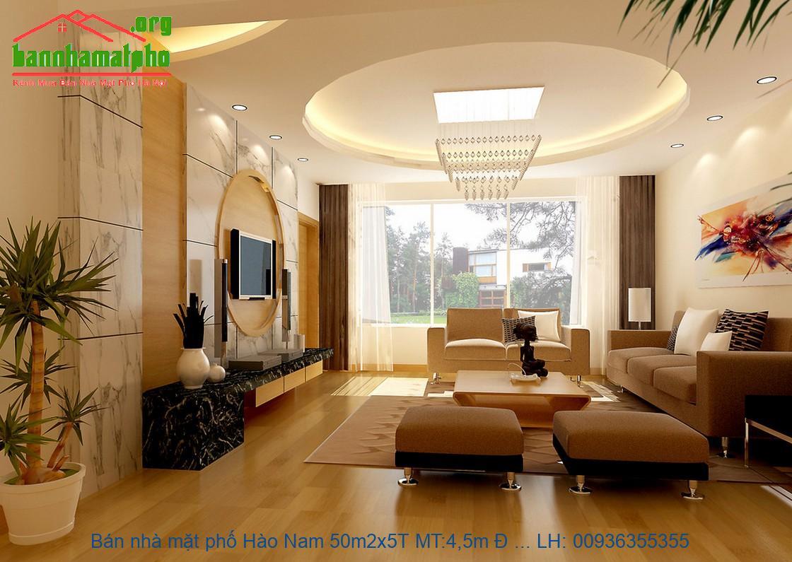 Bán nhà mặt phố Hào Nam 50m2x5T MT:4,5m Đ giá 20tỷ