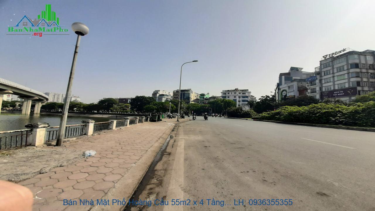 Bán Nhà Mặt Phố Hoàng Cầu 55m2 x 4 Tầng, Lô Góc, View Hồ Hoàng Cầu