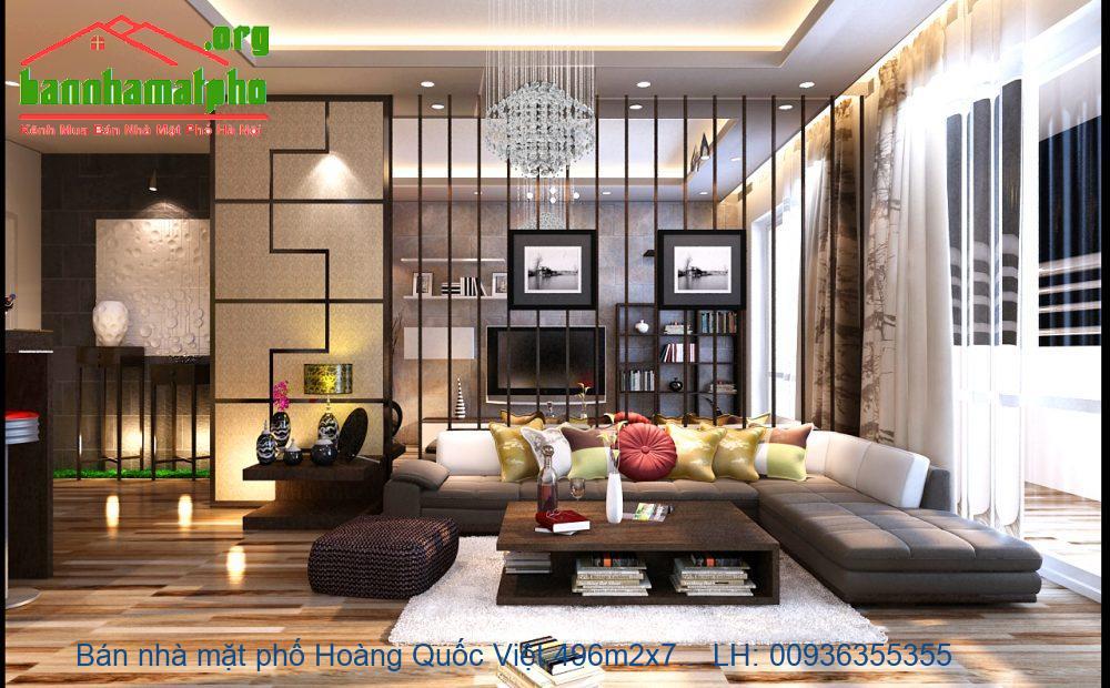 Bán nhà mặt phố Hoàng Quốc Việt 496m2x7T MT:33m giá 110tỷ