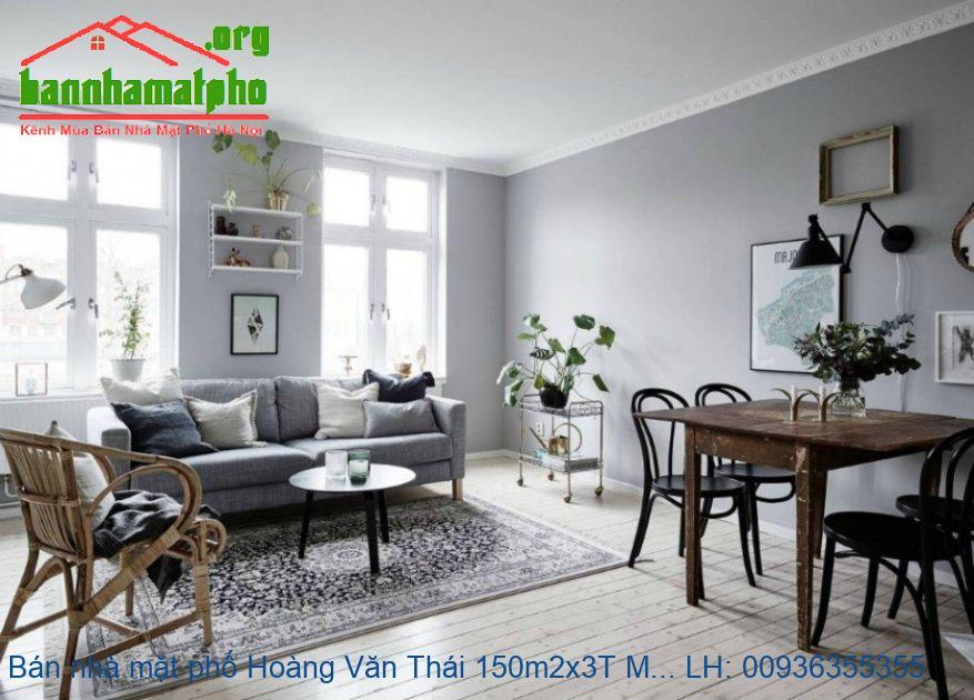 Bán nhà mặt phố Hoàng Văn Thái 150m2x3T MT:10m giá 23tỷ