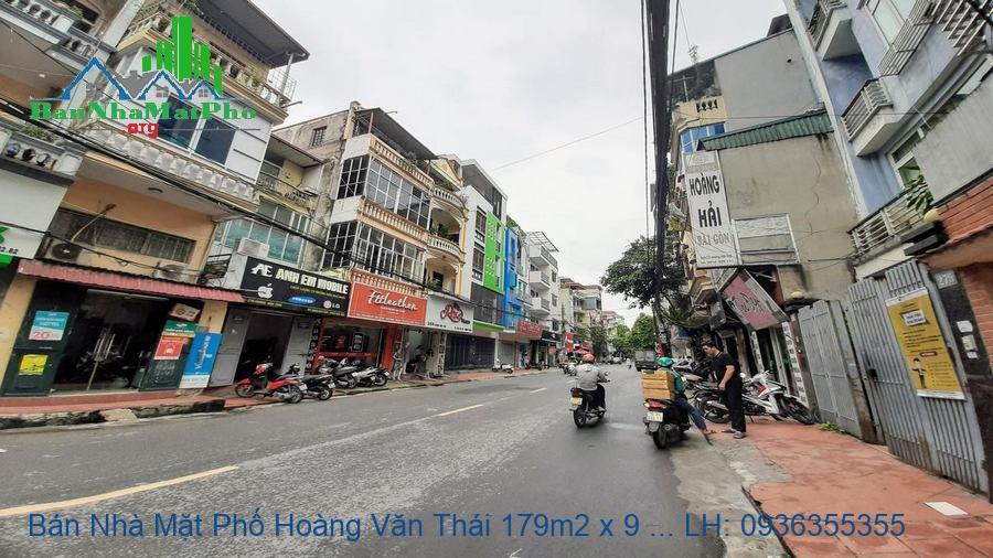 Bán Nhà Mặt Phố Hoàng Văn Thái 179m2 x 9 Tầng, MT 6,5m, Thang Máy, Giá