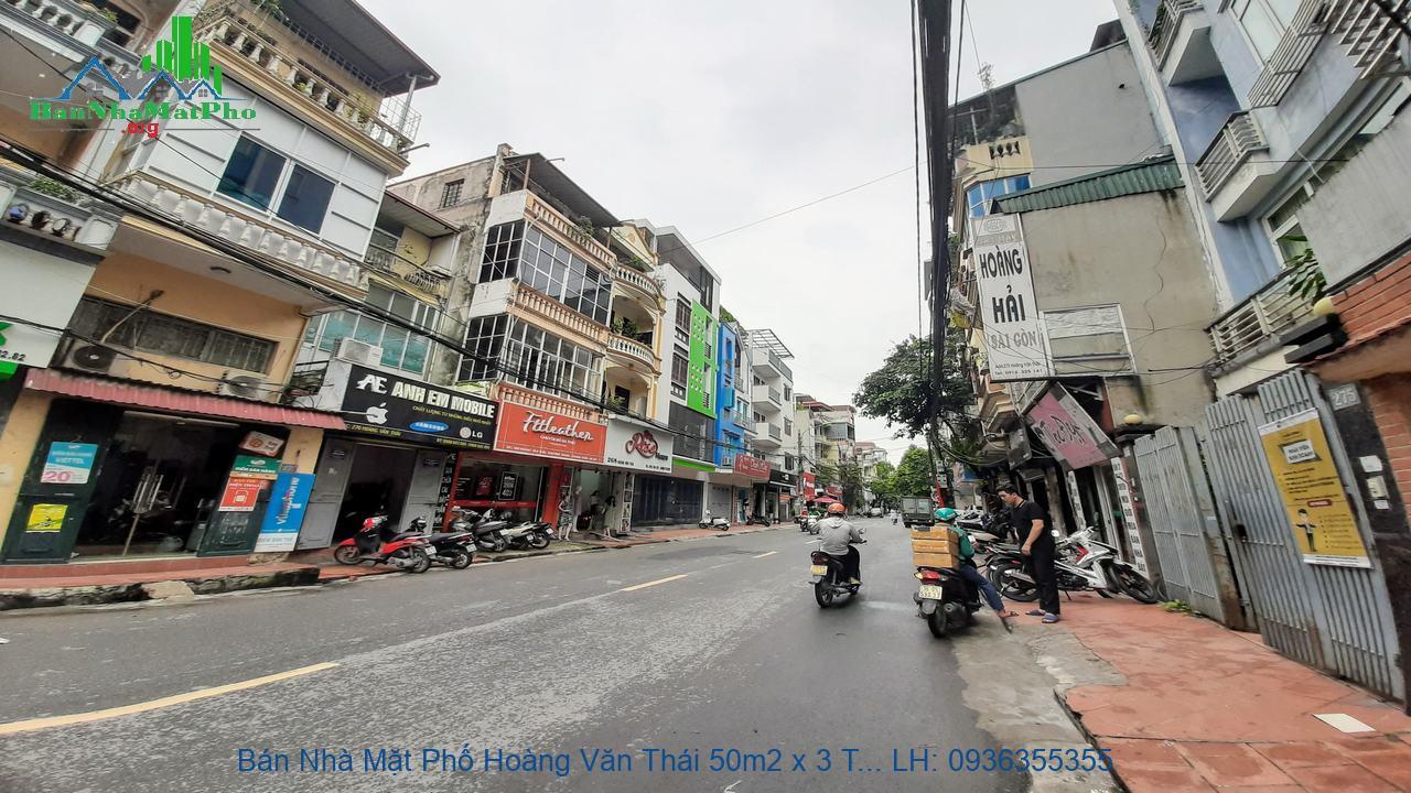 Bán Nhà Mặt Phố Hoàng Văn Thái 50m2 x 3 Tầng, Mặt Tiền 4,2m, Giá Rẻ