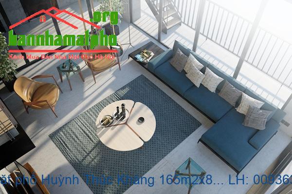 Bán nhà mặt phố Huỳnh Thúc Kháng 165m2x8T MT:9m lô góc giá 86tỷ