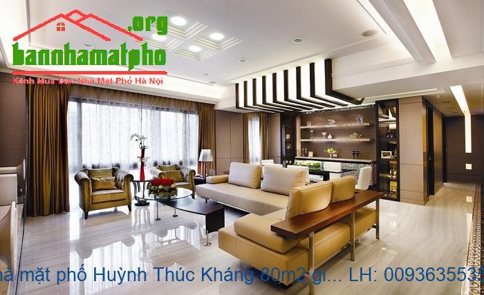 Bán nhà mặt phố Huỳnh Thúc Kháng 80m2 giá 35tỷ