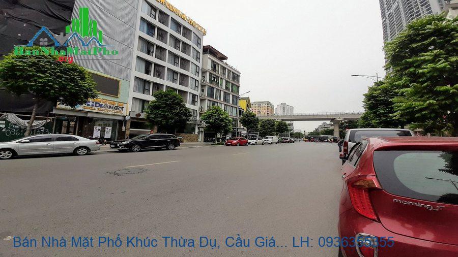 Bán Nhà Mặt Phố Khúc Thừa Dụ, Cầu Giấy, 121m2, 7,5 Tầng, 2 Mặt Đường