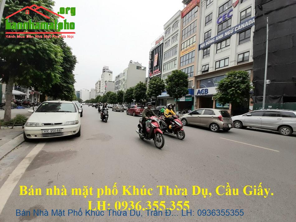 Bán Nhà Mặt Phố Khúc Thừa Dụ, Trần Đăng Ninh, 54m2, 8 Tầng, Mặt Tiền 5