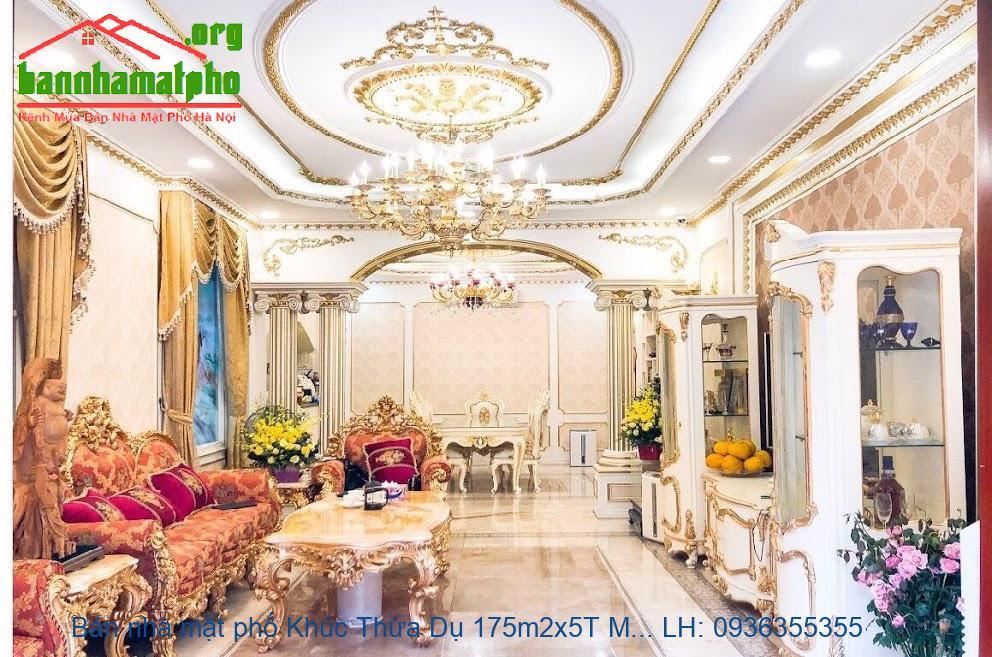 Bán nhà mặt phố Khúc Thừa Dụ 175m2x5T MT:7,6m giá 72tỷ