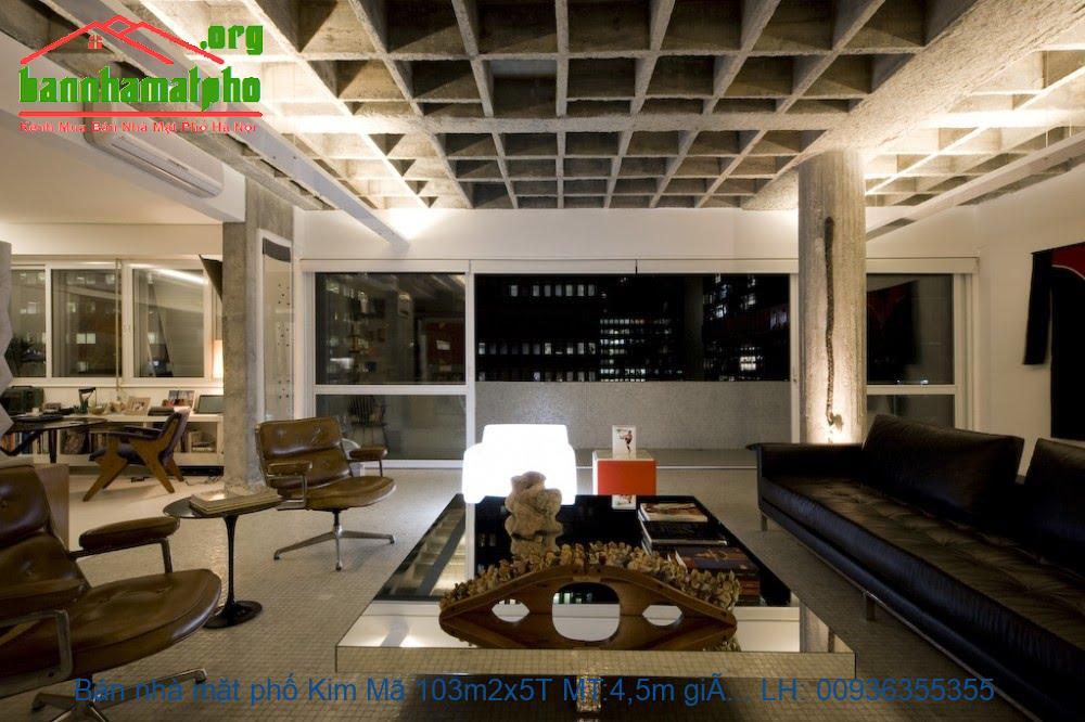 Bán nhà mặt phố Kim Mã 103m2x5T MT:4,5m giá 36tỷ