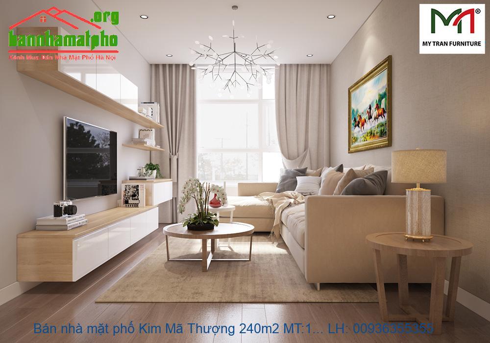 Bán nhà mặt phố Kim Mã Thượng 240m2 MT:10m giá 65tỷ
