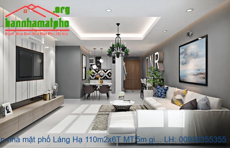 Bán nhà mặt phố Láng Hạ 110m2x6T MT:5m giá 50tỷ