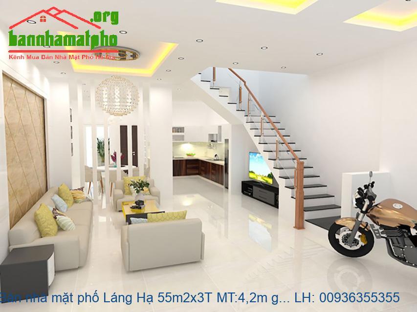 Bán nhà mặt phố Láng Hạ 55m2x3T MT:4,2m giá 24tỷ