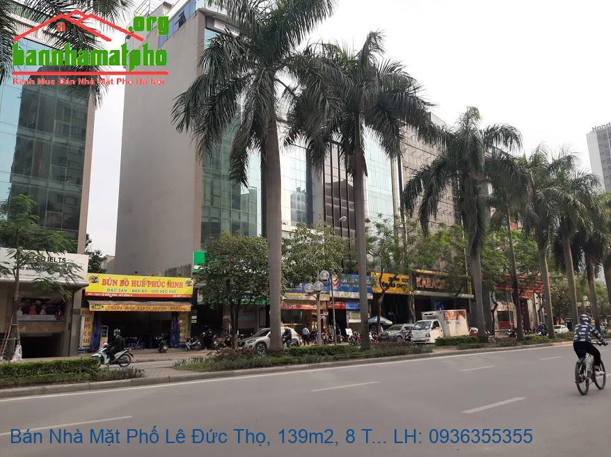 Bán Nhà Mặt Phố Lê Đức Thọ, 139m2, 8 Tầng, Lô Góc 3 Mặt Đường, Giá Rẻ