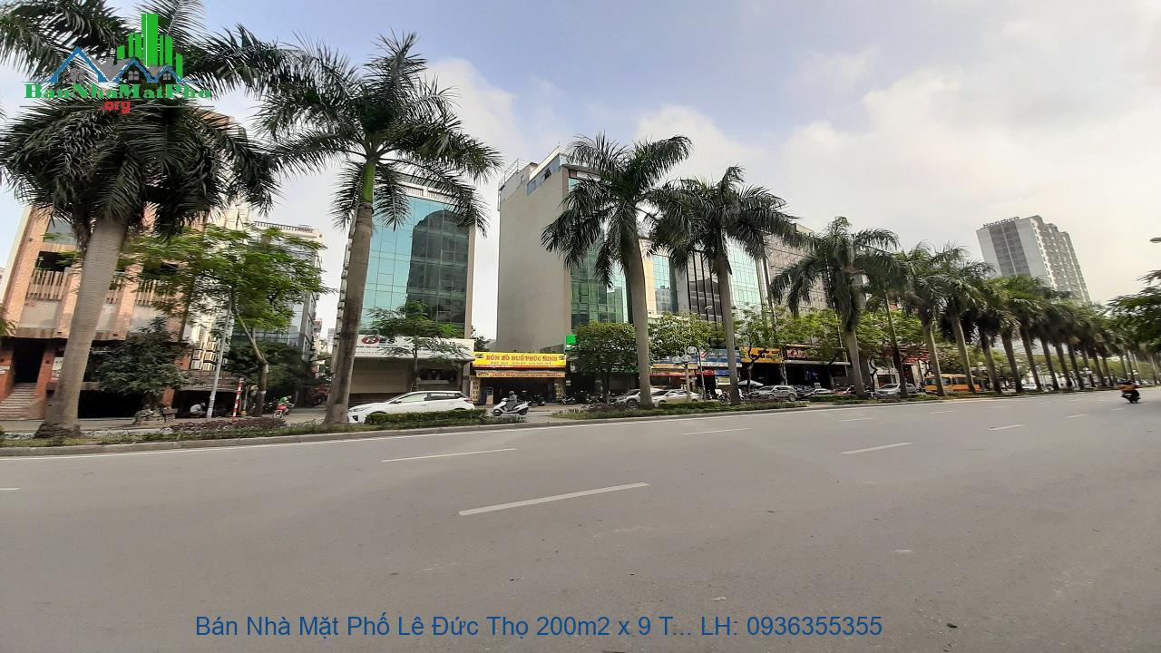 Bán Nhà Mặt Phố Lê Đức Thọ 200m2 x 9 Tầng, 2 Mặt Tiền 18m, Giá Đầu Tư