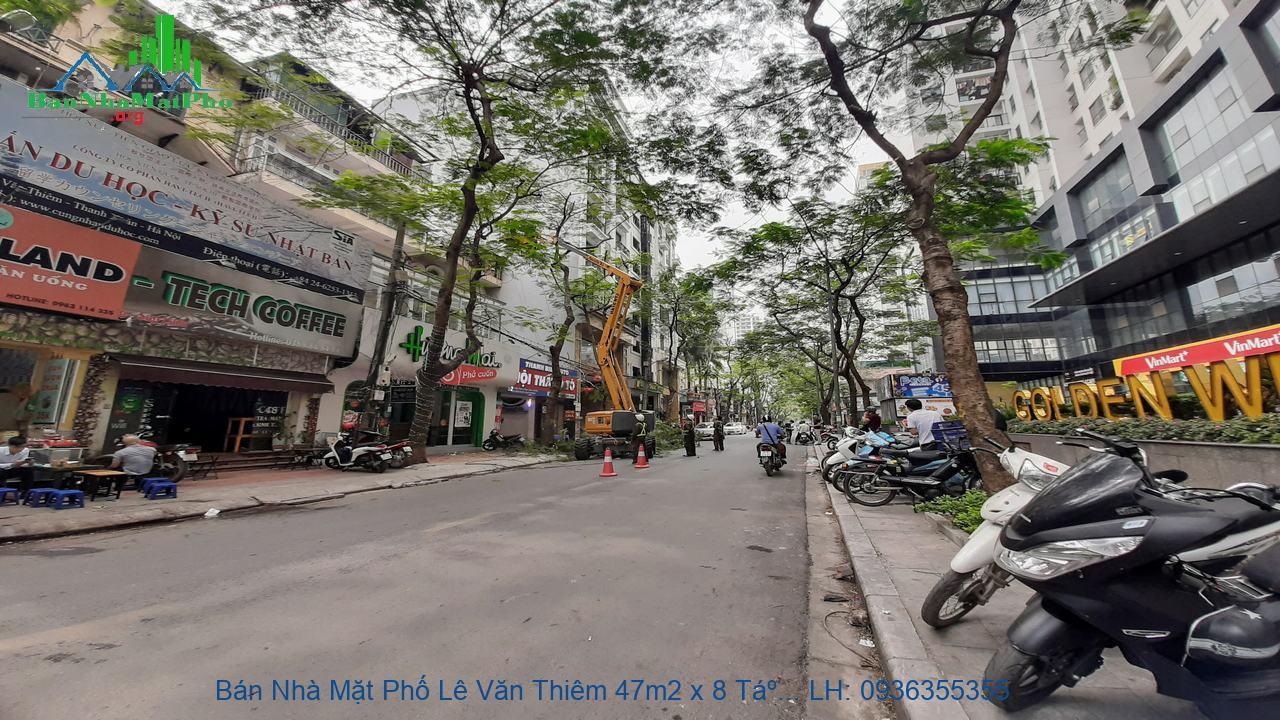 Bán Nhà Mặt Phố Lê Văn Thiêm 47m2 x 8 Tầng, Mặt Tiền 6,3m, Thang Máy