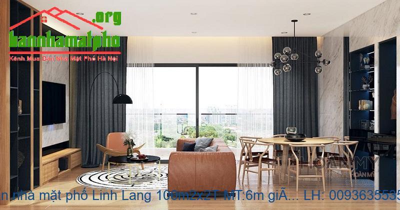 Bán nhà mặt phố Linh Lang 100m2x2T MT:6m giá 27tỷ