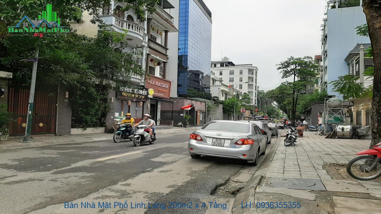 Bán Nhà Mặt Phố Linh Lang 200m2 x 4 Tầng, Mặt Tiền 8m, Giá Rẻ