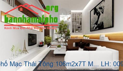 Bán nhà mặt phố Mạc Thái Tông 106m2x7T MT:6,5m TB giá 39tỷ