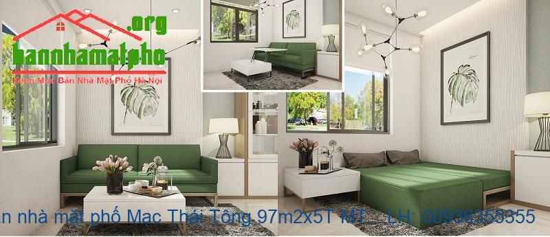 Bán nhà mặt phố Mạc Thái Tông 97m2x5T MT:6m TB giá 30tỷ