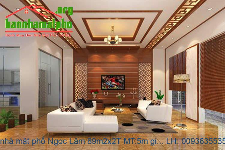 Bán nhà mặt phố Ngọc Lâm 89m2x2T MT:5m giá 14tỷ