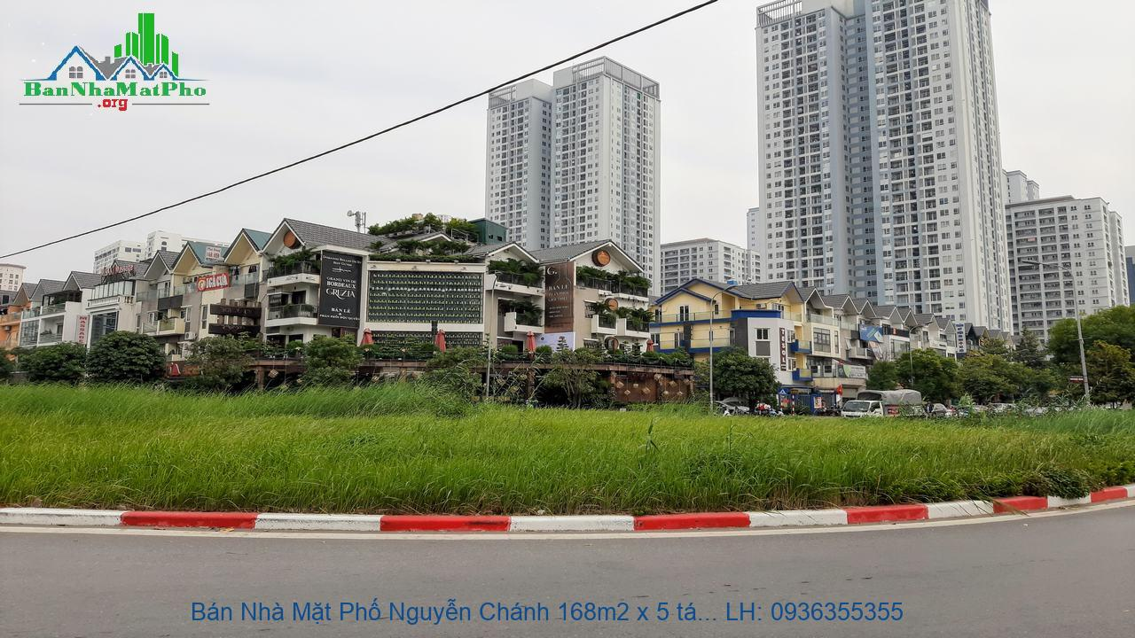 Bán Nhà Mặt Phố Nguyễn Chánh 168m2 x 5 tầng, Mặt Tiền 12m, Thang Máy