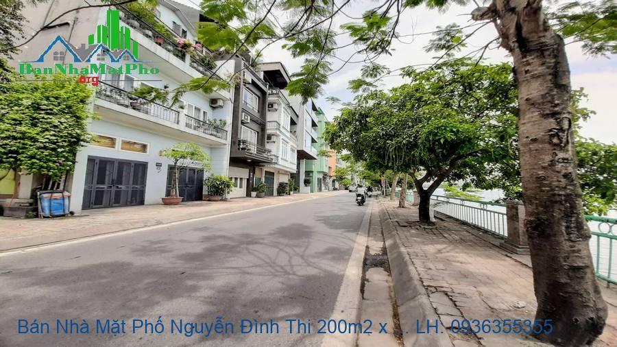 Bán Nhà Mặt Phố Nguyễn Đình Thi 200m2 x 5 Tầng, MT 12m, Thang Máy, Giá