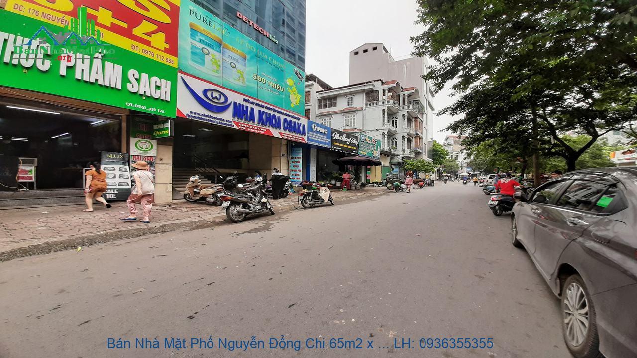 Bán Nhà Mặt Phố Nguyễn Đổng Chi 65m2 x 3 Tầng, Lô Góc, Ngõ Bên 4m