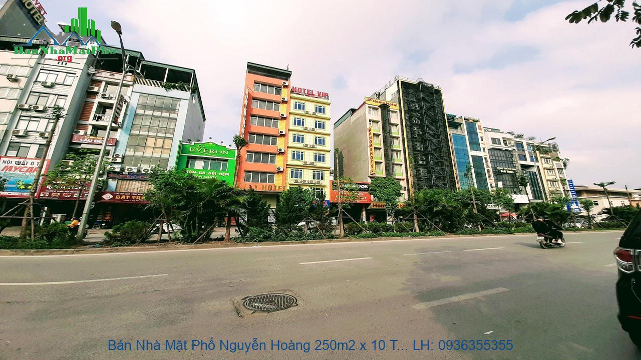 Bán Nhà Mặt Phố Nguyễn Hoàng 250m2 x 10 Tầng, 3 Mặt Phố, Siêu Vip