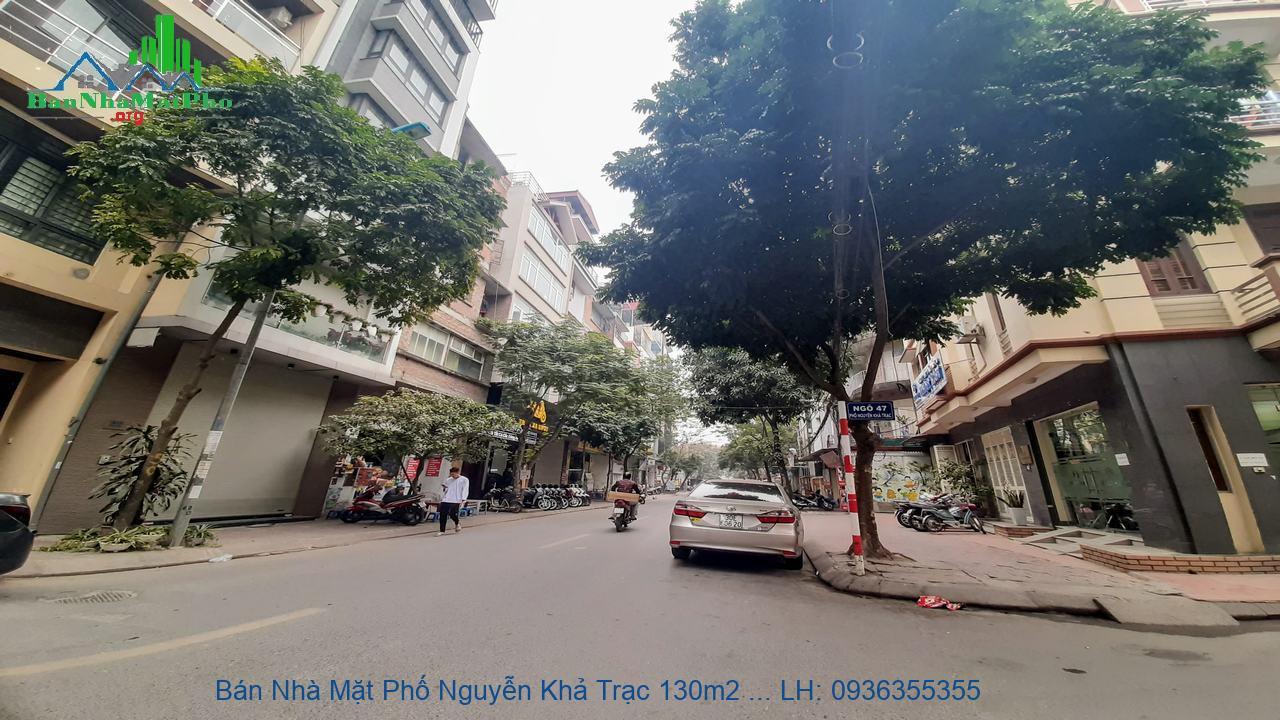 Bán Nhà Mặt Phố Nguyễn Khả Trạc 130m2 x 8 Tầng, Lô Góc 3 Mặt Đường